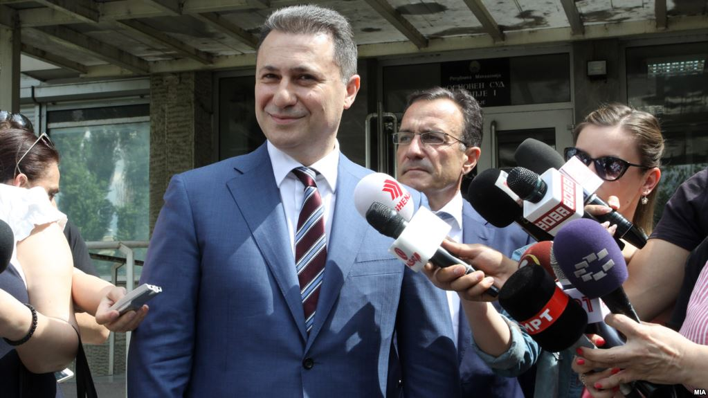 Gruevski doesn't appear in court