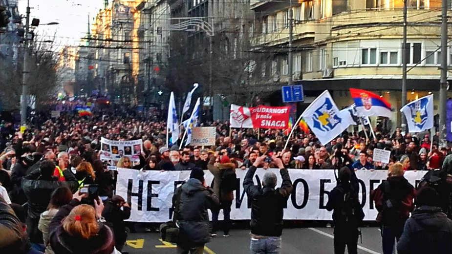Protestors demand Belgrade mayor resignation