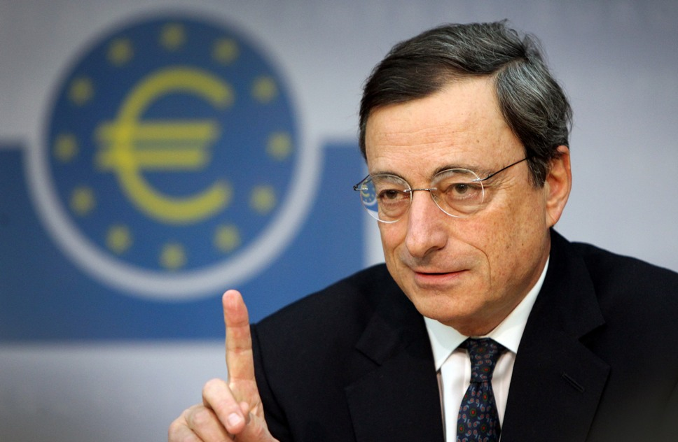 Draghi says Greek QE hopes rest on review conclusion