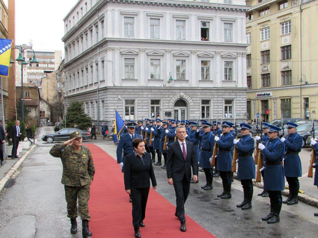 Stoltenberg visited Sarajevo