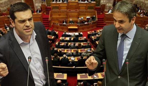 Tsipras, Mitsotakis in heated parliamentary debate