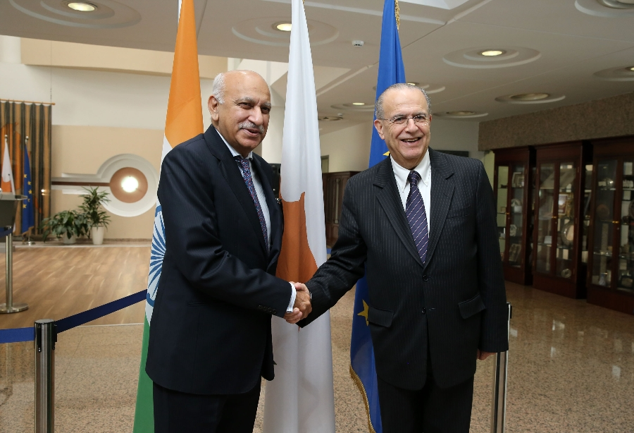 Kasoulidesmet with the Minister of State for External Affairs of India Akbar