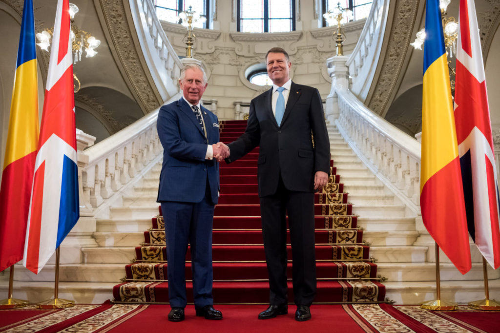 Prince Charles meets President Iohannis, receives Romania's highest civil order