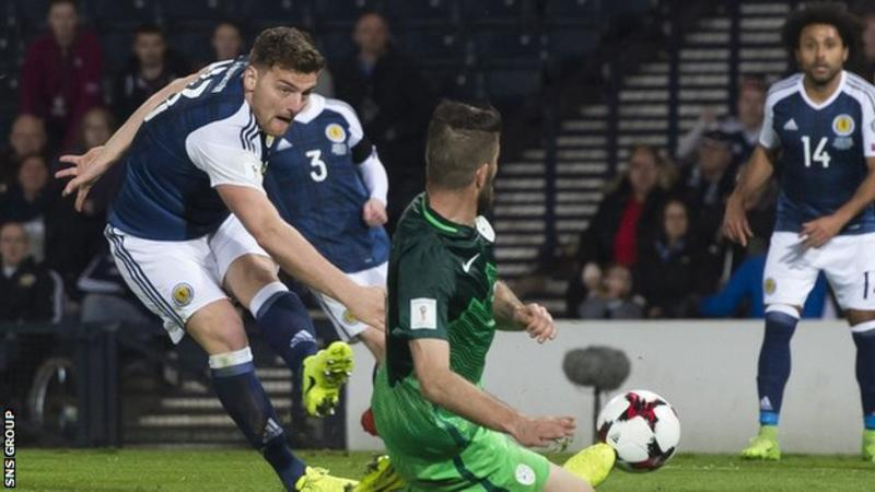 Slovenia lose to Scotland on late goal by Martin