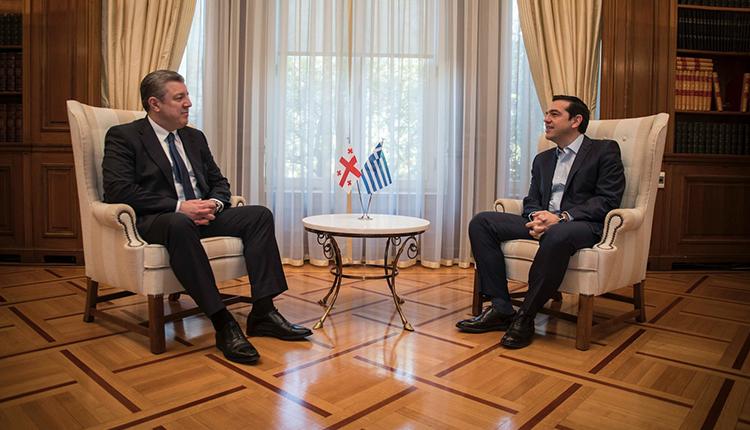 Tsipras welcomes visiting Georgian PM Kvirikashvili