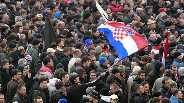 Protest against Todoric, tycoons held in Zagreb