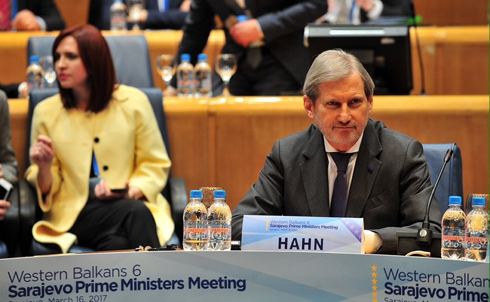 Hahn sends sharp messages to Western Balkan countries