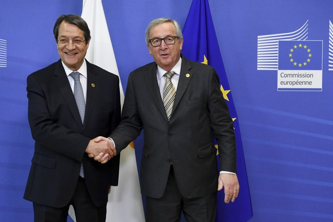 President Anastasiades met with the President of the European Commission