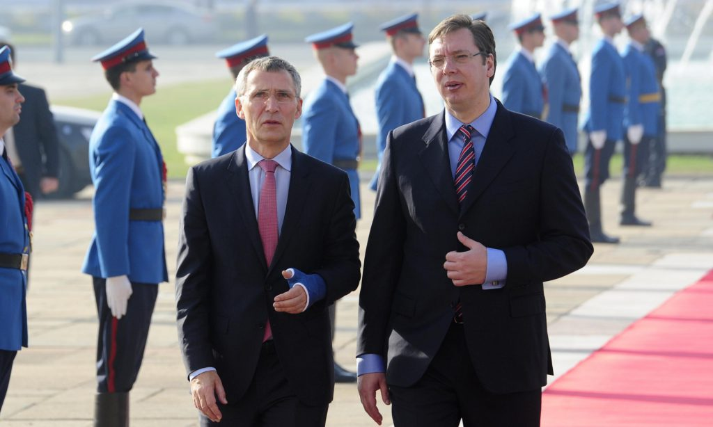 """Vucic, Stoltenberg """"concerned"""" over Kosovo army plans"""