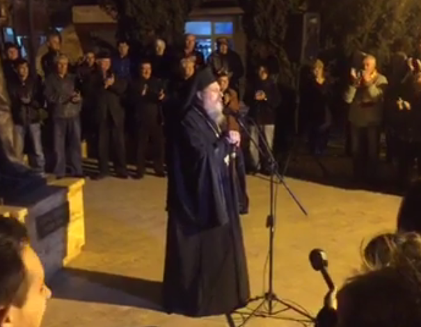 Orthodox religious leaders in FYROM participate in the protests