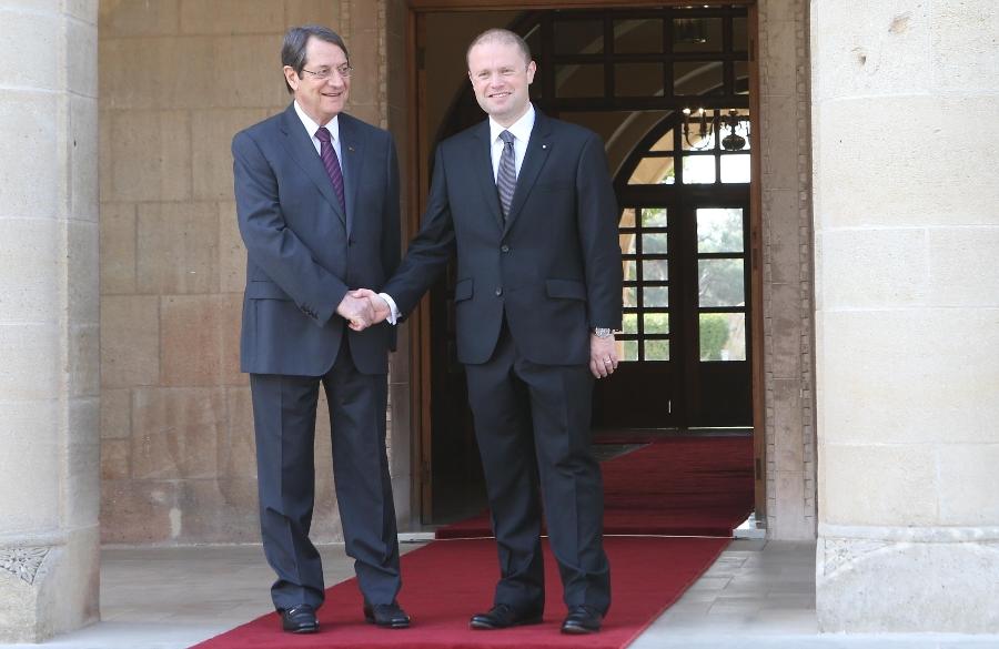 President Anastasiades met with the Prime Minister of Malta