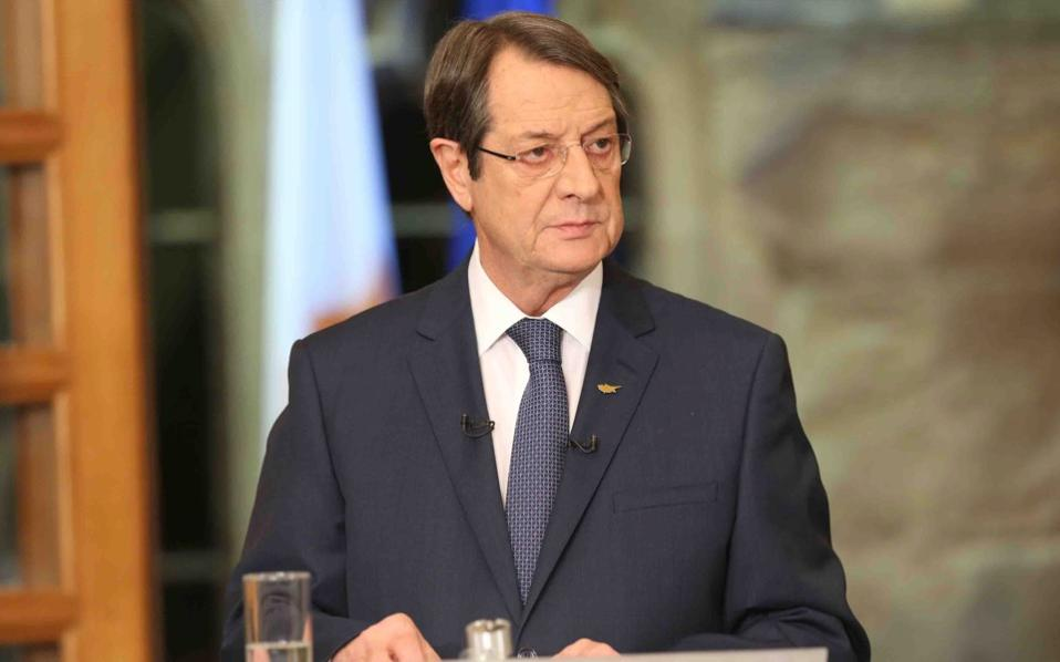 """Anastasiades: """"I am not willing to engage in a game for the cultivation of the climate they want"""""""