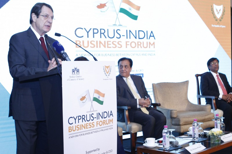President Anastasiades expresses hope that Cyprus-India economic ties will deepen