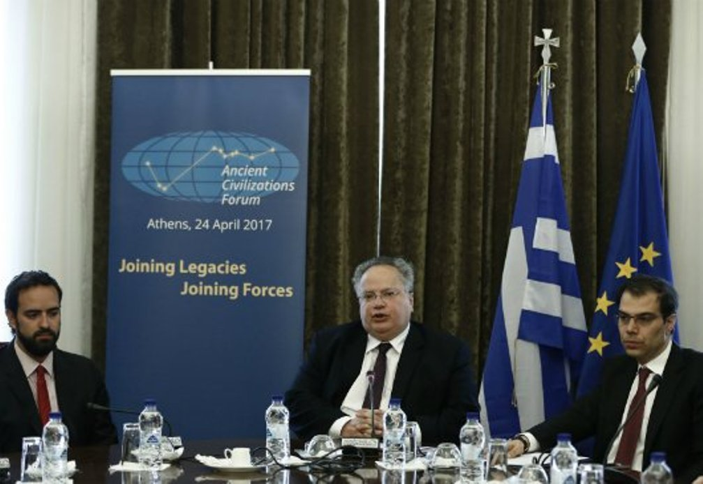 Kotzias: Ancient Civilizations Forum's aim is to turn it into an institution; add more countries