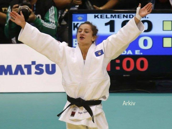 Majlinda Kelmendi wins the European Judo Championship final