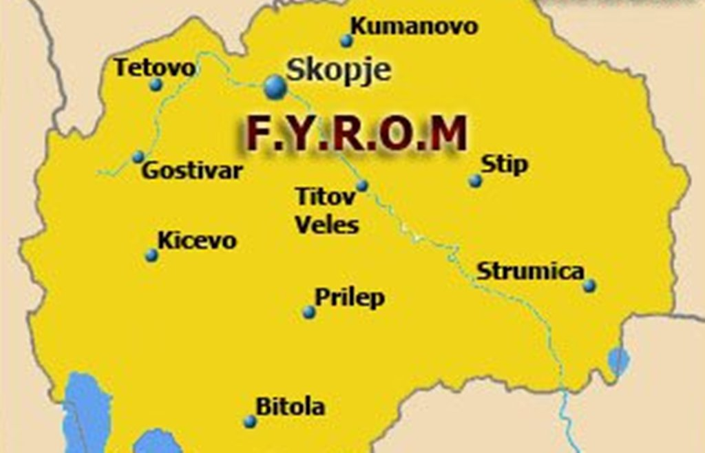 Albanian government officially refers to the neighboring country as FYROM