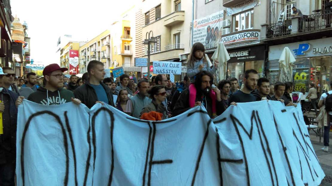Protestors in Serbia urge fight against corruption