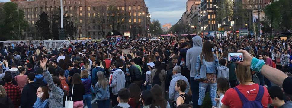 Trade union joins students in Belgrade protests