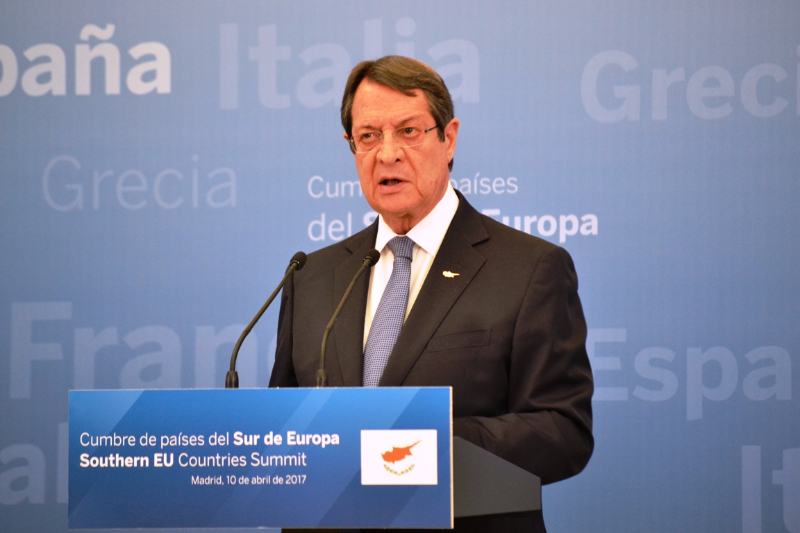 Anastasiades: We will work towards a strong and secure Europe