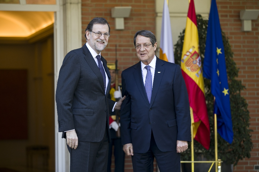President of Cyprus met with the Prime Minister of Spain