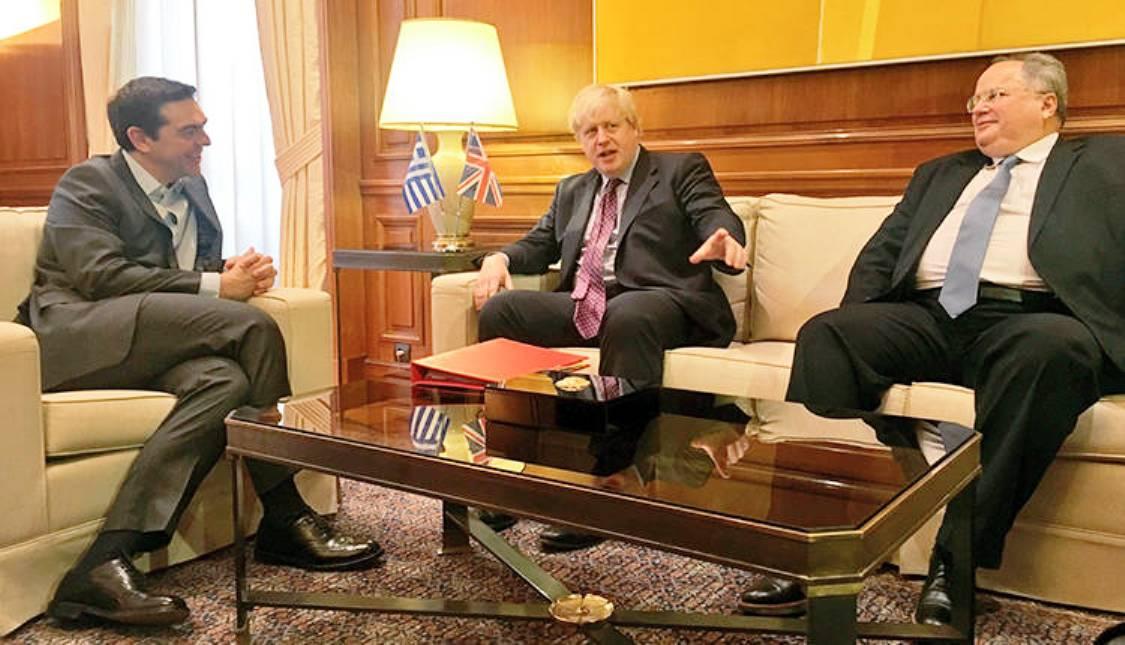 Alexis Tsipras met Boris Johnson