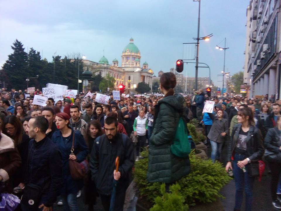 Protests in Serbia continue: Where are our votes
