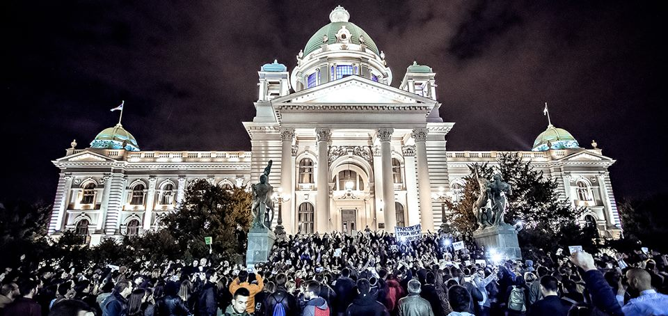 "Students protests in Serbia continue, Russia blames ""dark forces"""