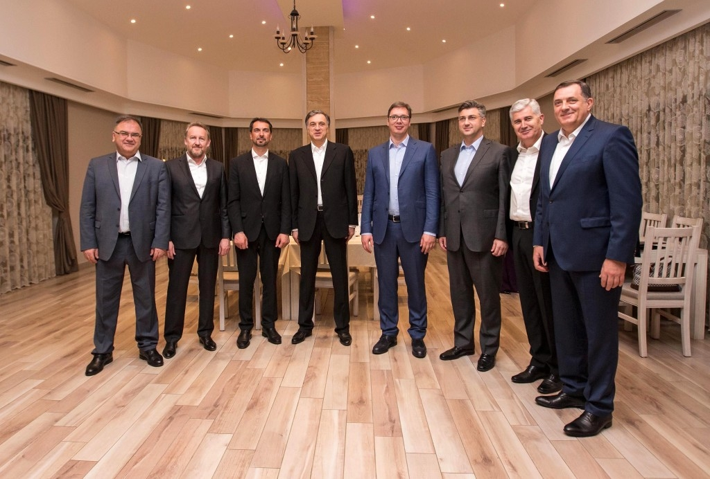 Vucic with other PMs in Mostar