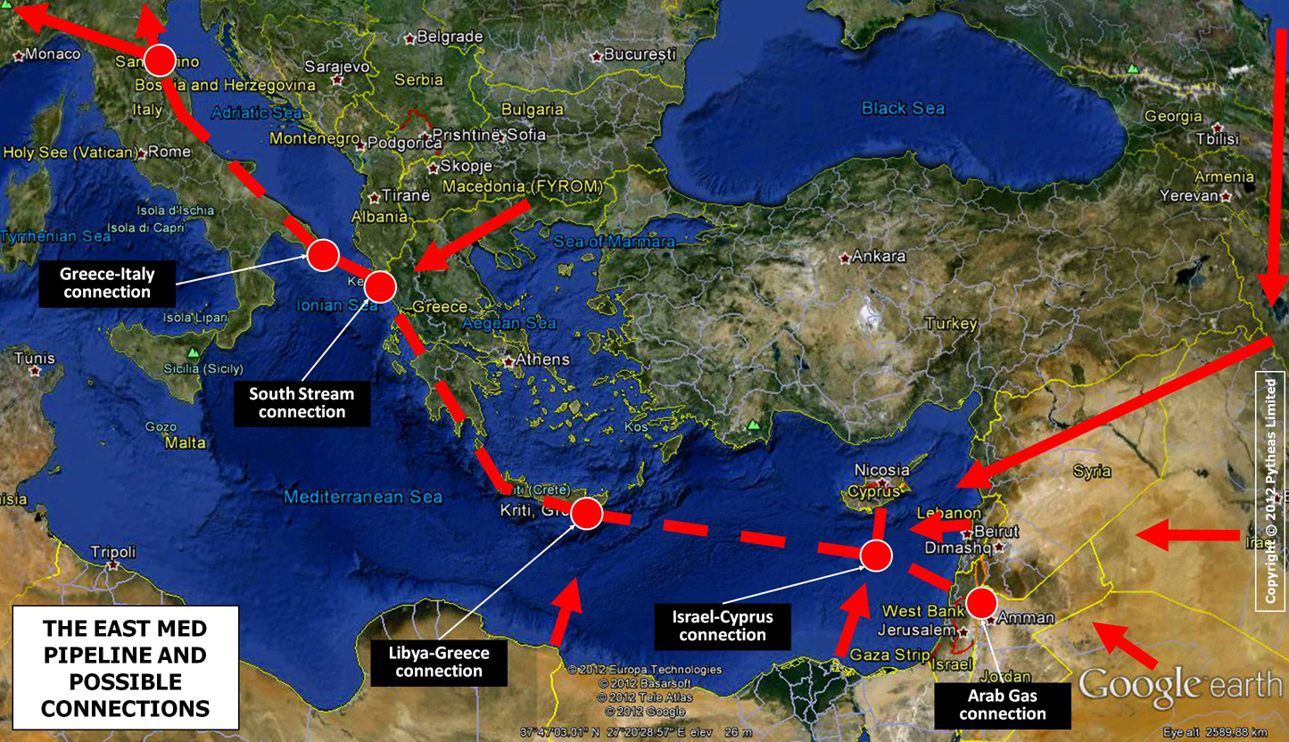 Cyprus, Greece, Israel and Italy agree to support EastMed Pipeline Project