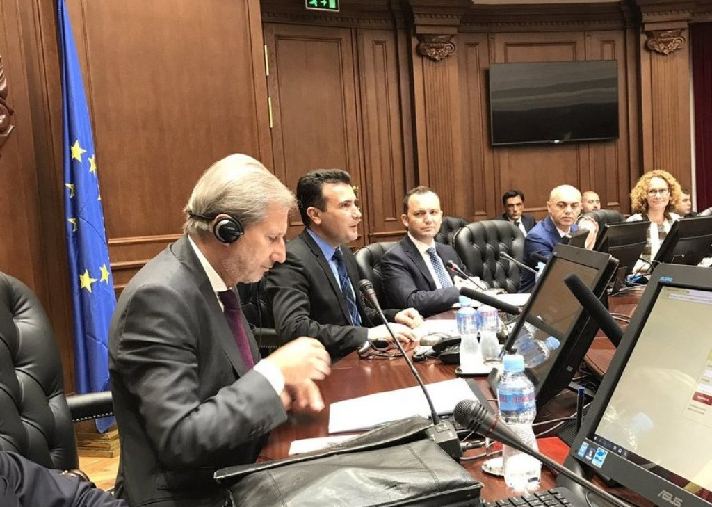 Hahn in Skopje: The country has opened a new page