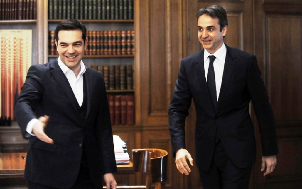 Tsipras, Mitsotakis debate economy