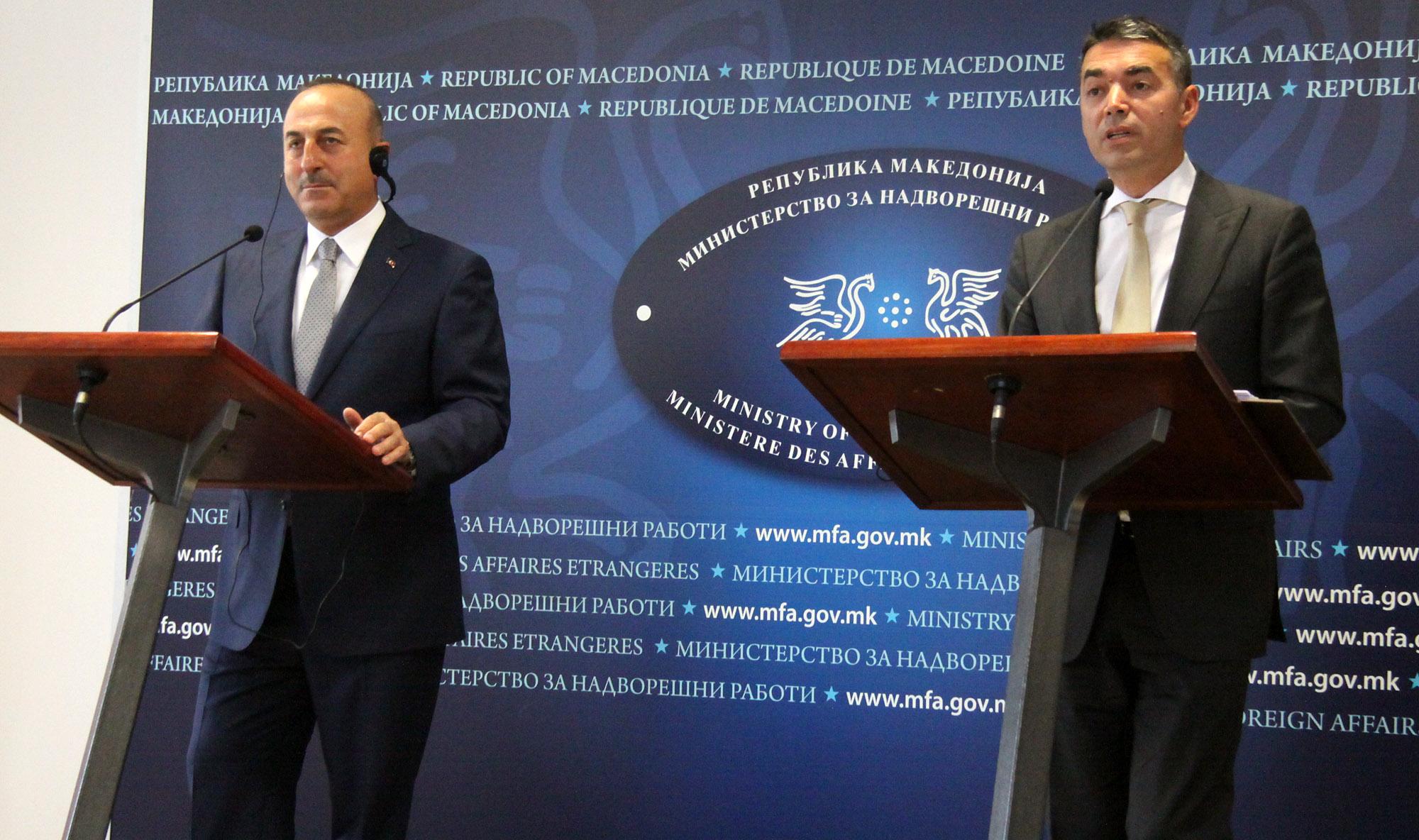 Cavosoglu sends messages of support from Skopje