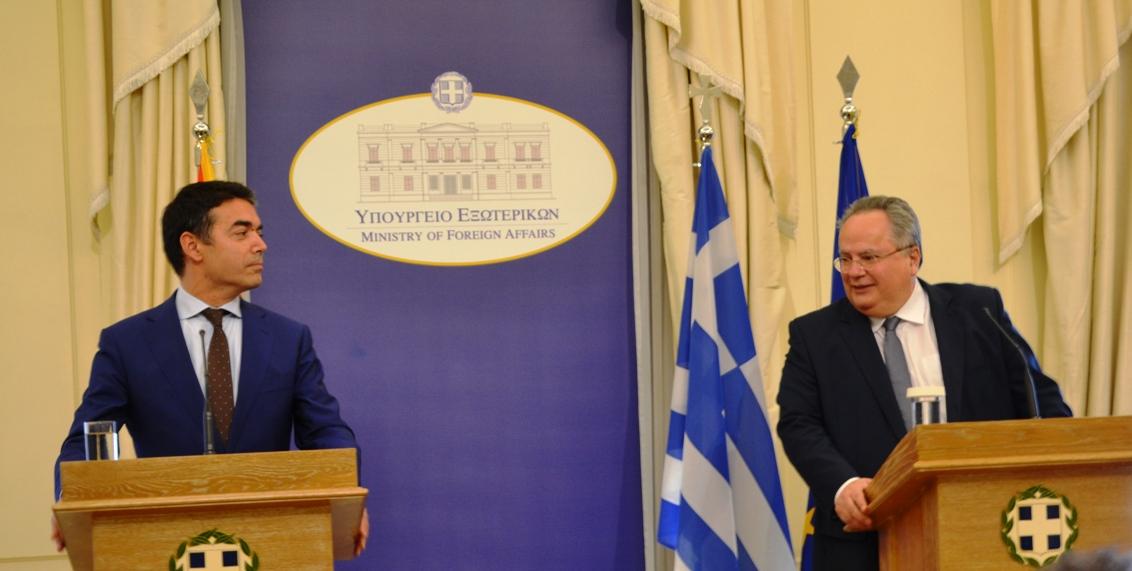 Solution to name dispute must precede FYRO Macedonia NATO entry, Kotzias signals in talks with Dimitrov