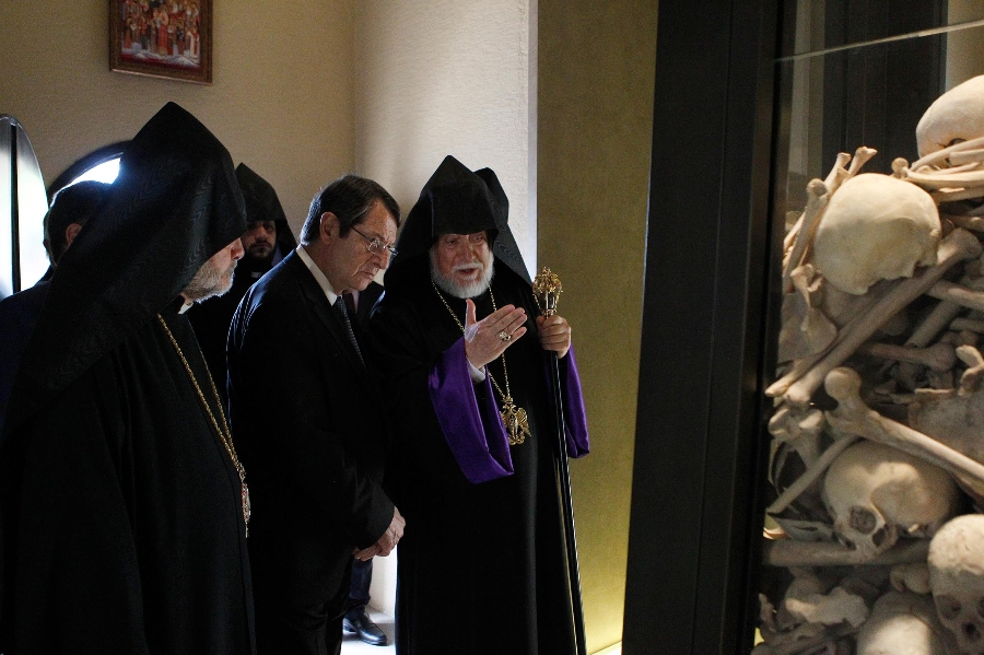 Anastasiades met with the Patriarch of Cilicia, in Beirut