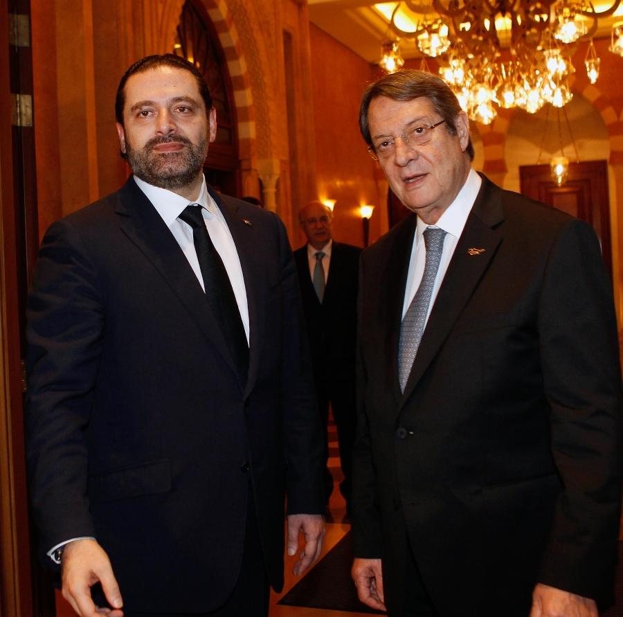 President Anastasiades met with the Prime Minister of Lebanon