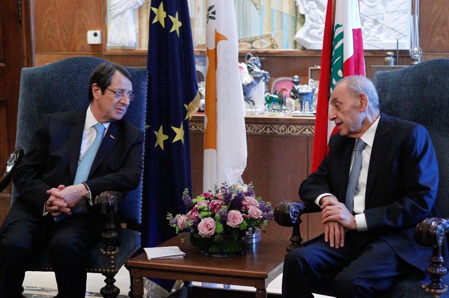 Cyprus President met with the Speaker of the Parliament of Lebanon