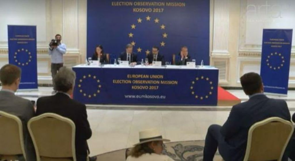 The assessment of the EU monitors for the June 11 elections in Kosovo