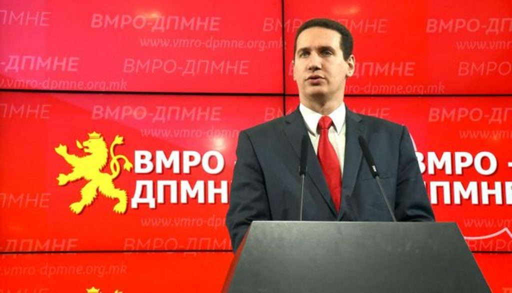 VMRO-DPMNE calls for a rapid accession of the country in the EU and NATO