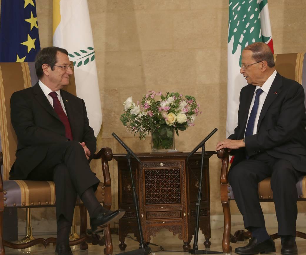 President Anastasiades met with the President of Lebanon