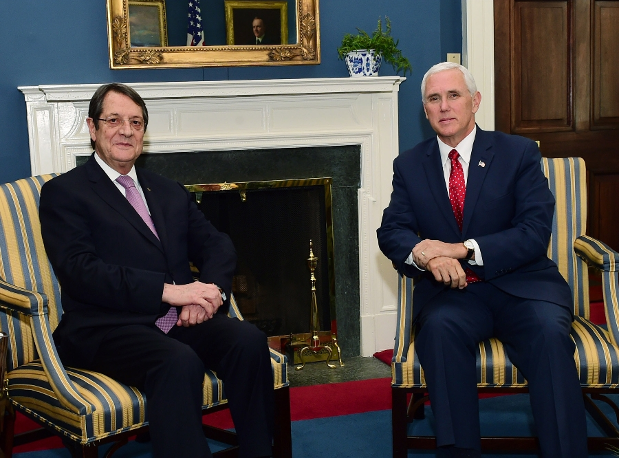 President Anastasiades met with the Vice President of the USA at the White House
