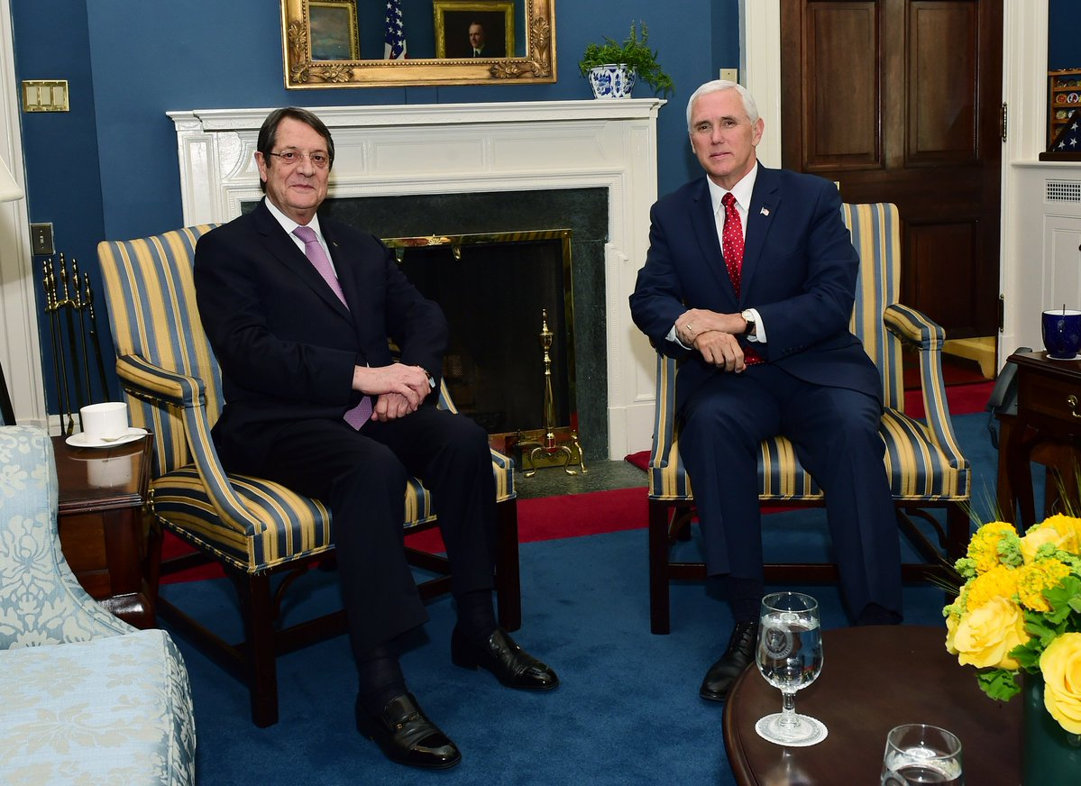 Nicos Anastasiades fully satisfied with his meeting with Pence at the White House