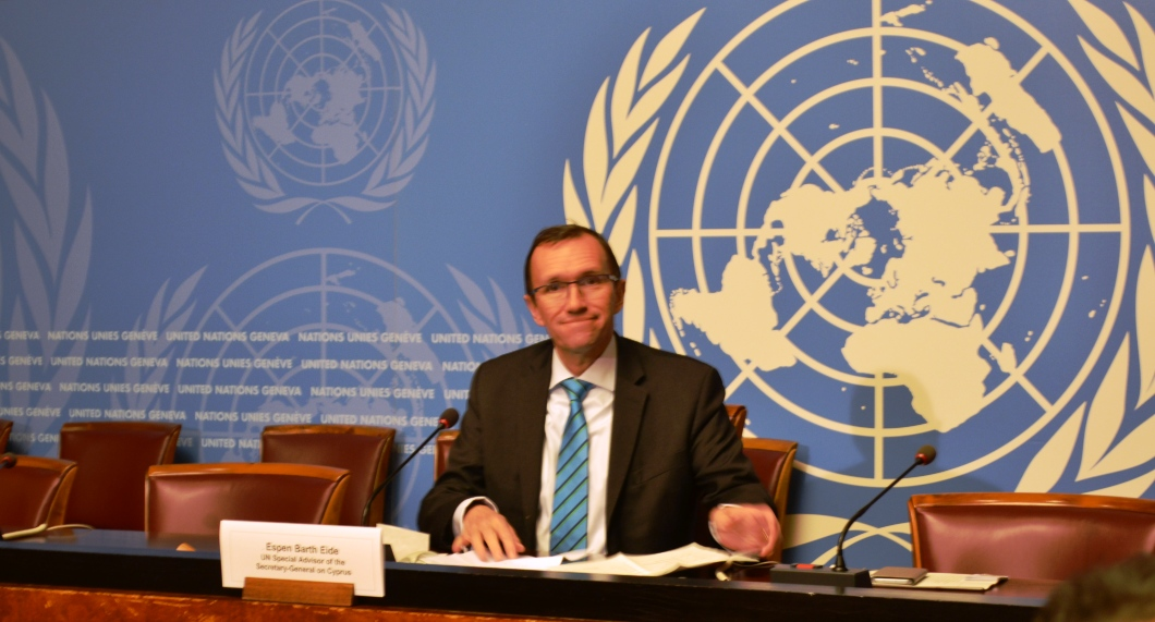 Eide: Cyprus process can be resurrected through an agreement by the sides and not by the UN