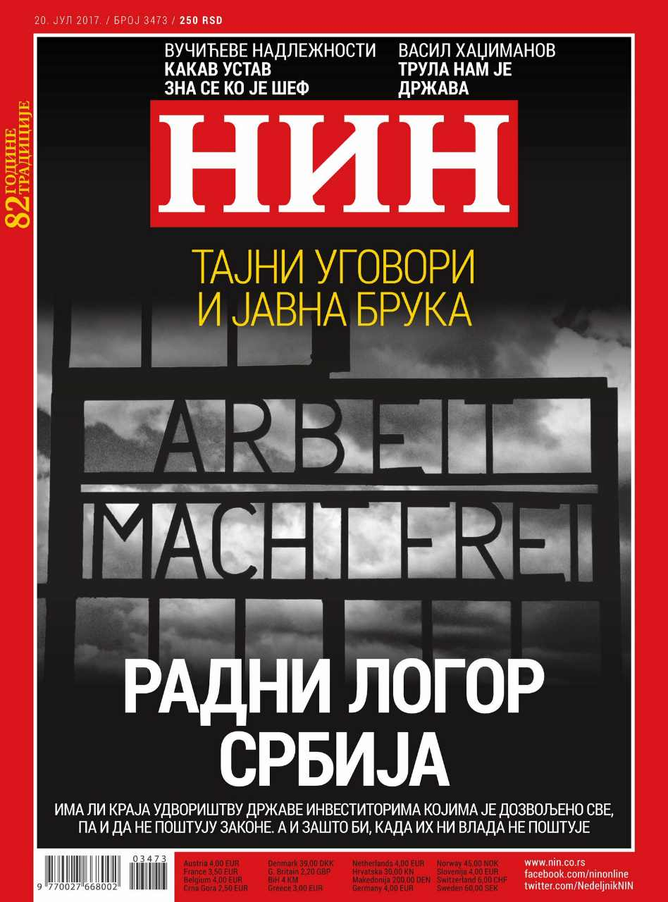 "Serbian weekly apologizes over ""Arbeit macht frei"" front page"