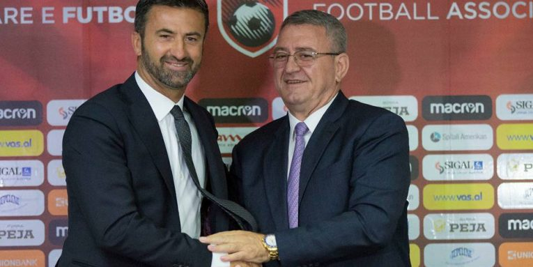 Christian Panucci is the new coach of the Albanian national football team