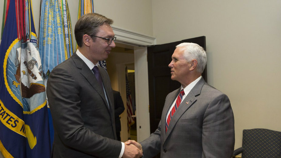 Vucic called Pence to visit Serbia
