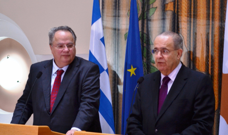 Nikos Kotzias in Cyprus to discuss the next day on the Cyprus issue