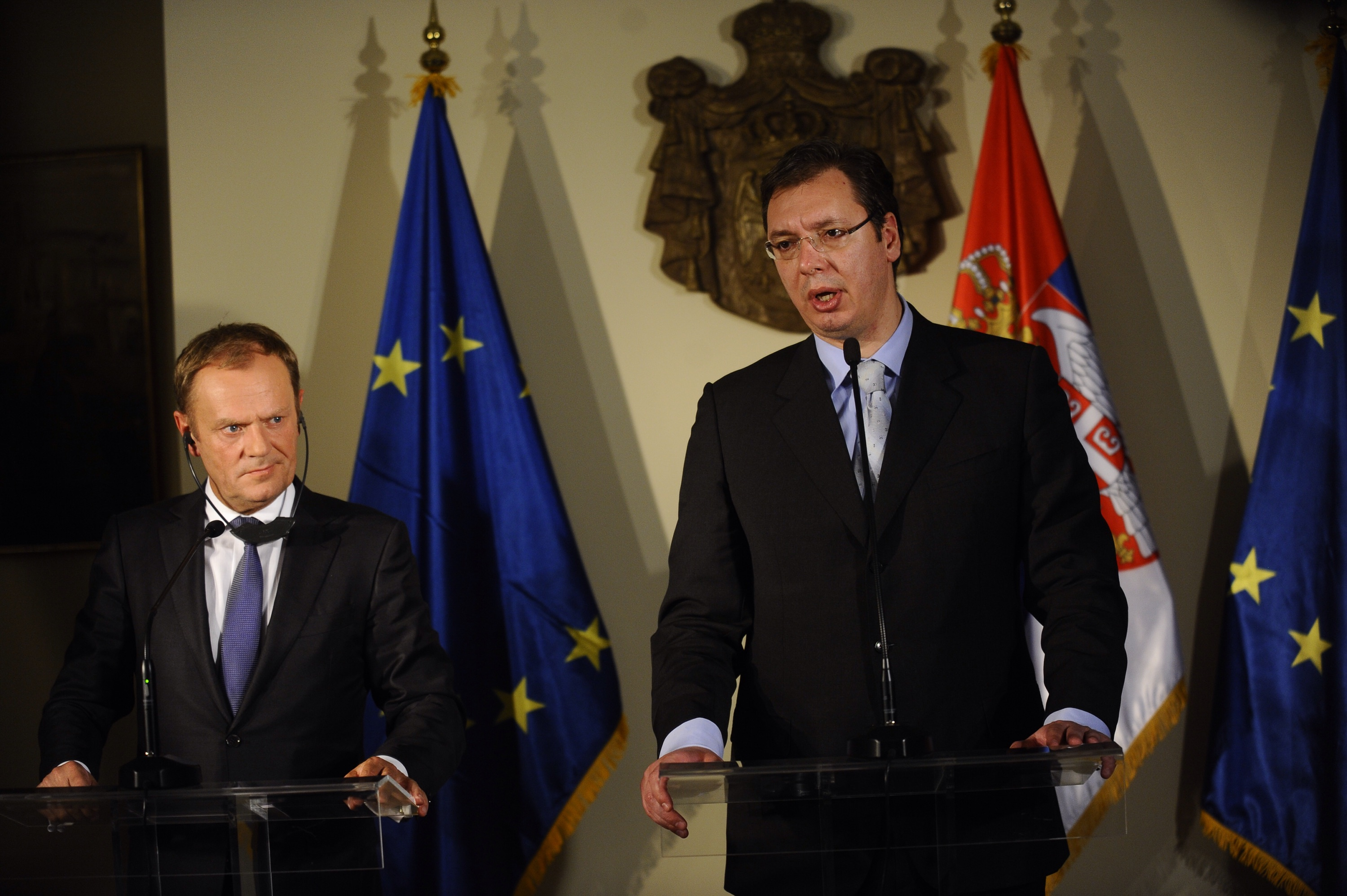 Vucic meets with Tusk in Brussles – No set framework for Serbia's accession process