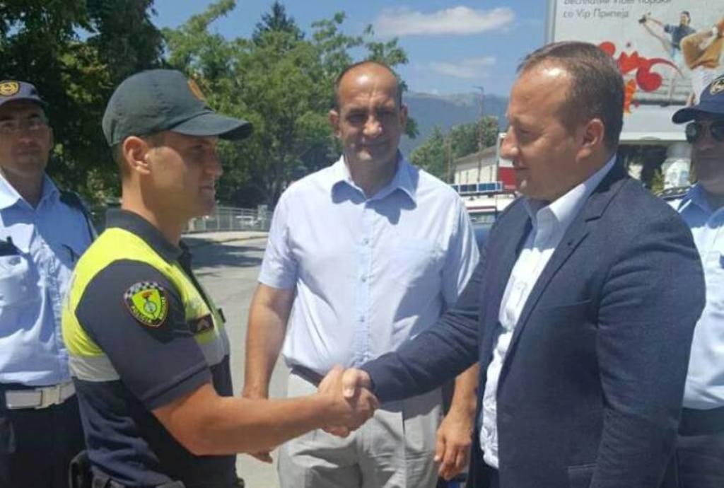 Albanian police forces in Struga