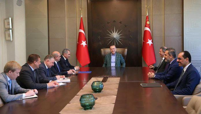 President Erdogan hosted Russian Defence Minister