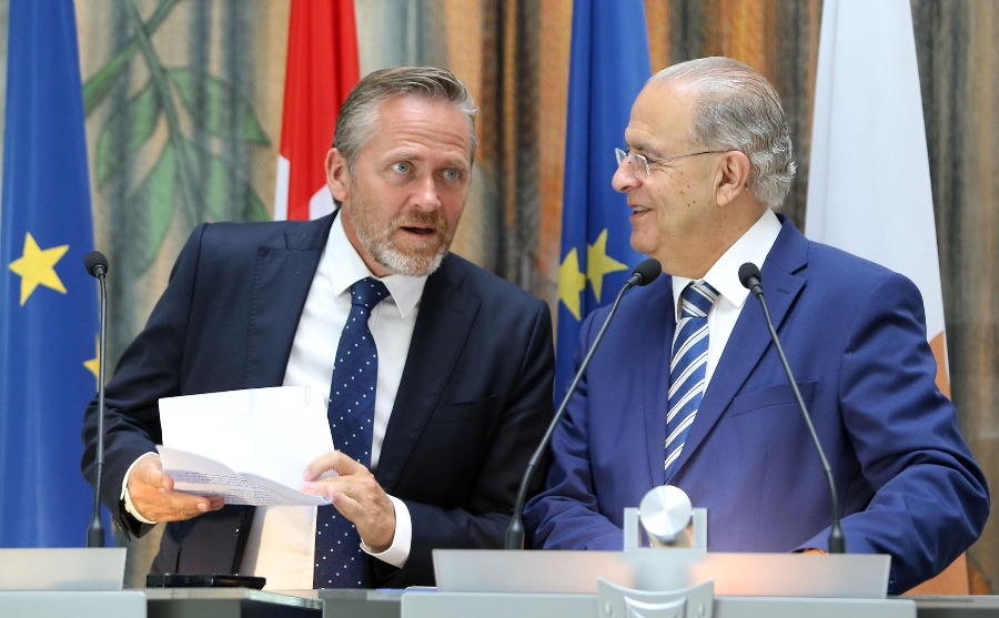 Ministers of Foreign Affairs of Cyprus and Denmark met in Cyprus